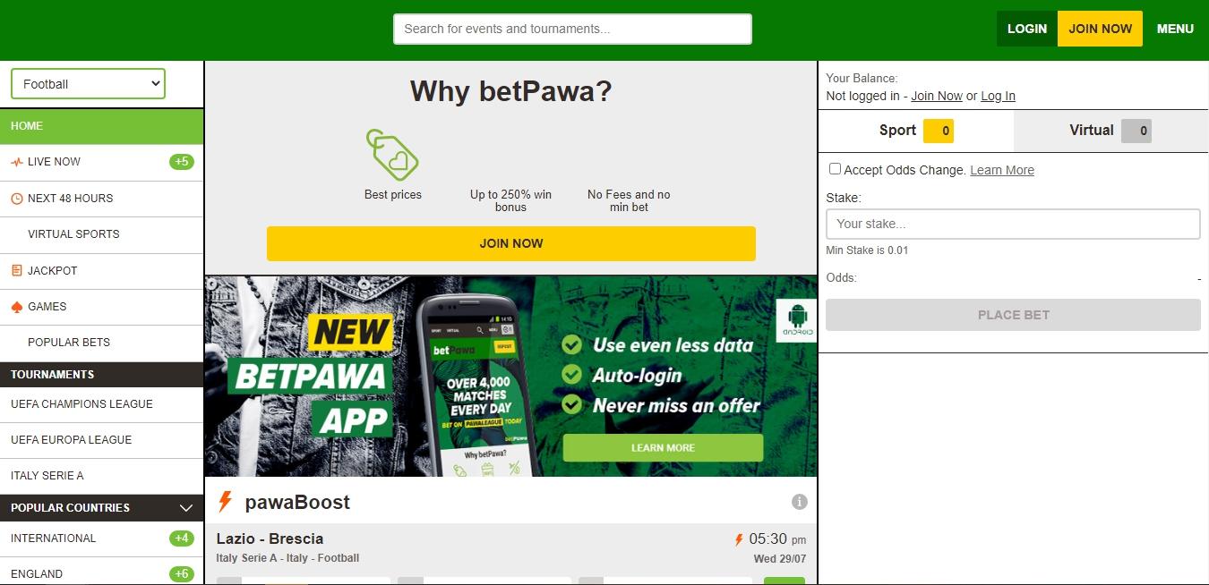 Betpawa registration Ghana