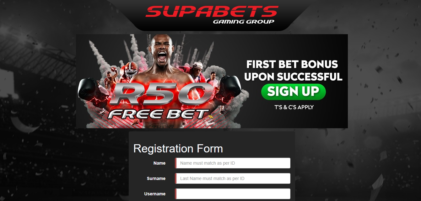 Supabets register online