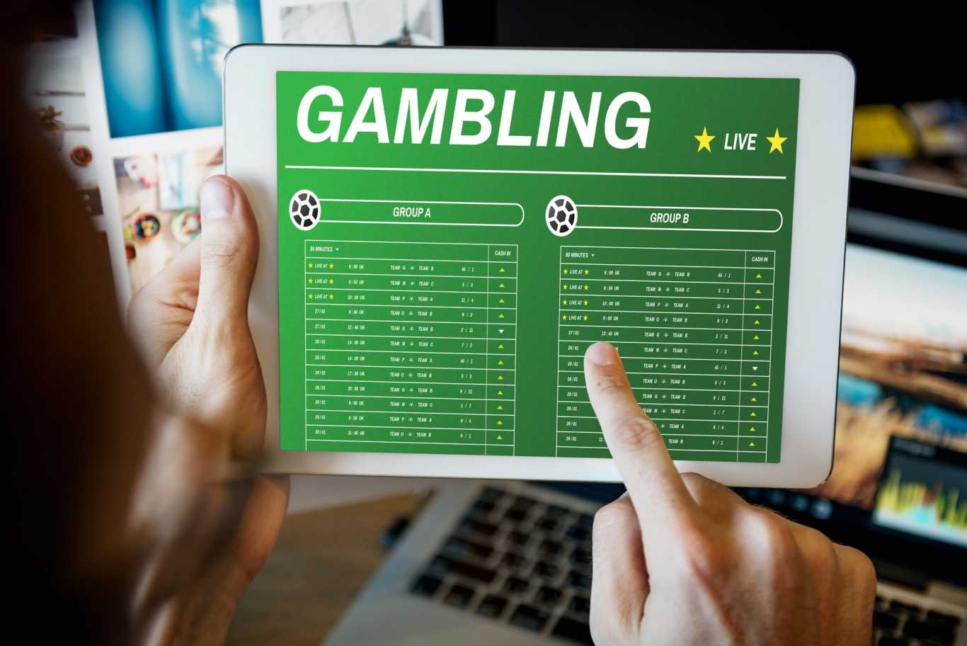 Bet Registration at an Online Gambling